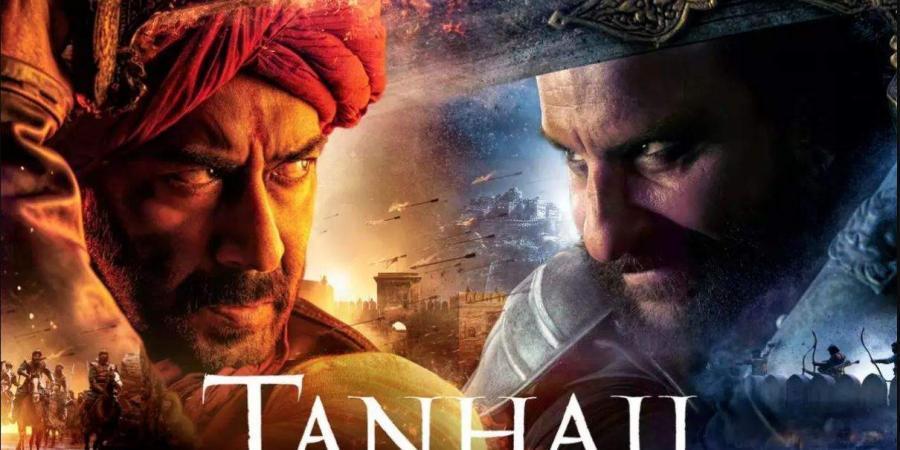 Ajay Devgn and Saif Ali Khan in  'Tanhaji The Unsung Warrior'.