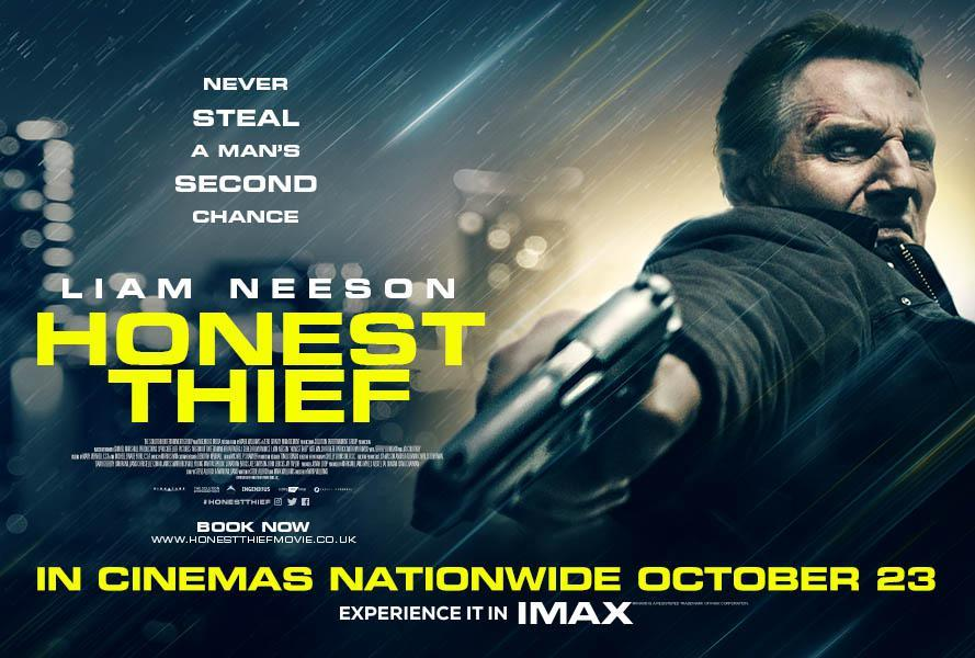 r/movies - UK Quad poster for Honest Thief - Crime drama from the writer / creator of Ozark